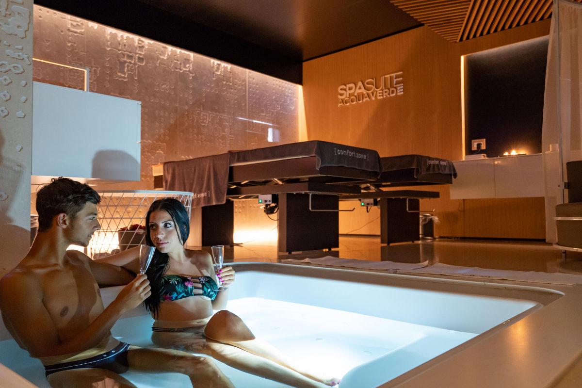 Bagno Romantico In Due spa suite acquaverde | costa verde hotel con spa a cefalù